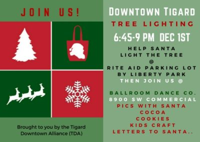 Christmas Tree Lighting Celebration Downtown Tigard (2017)